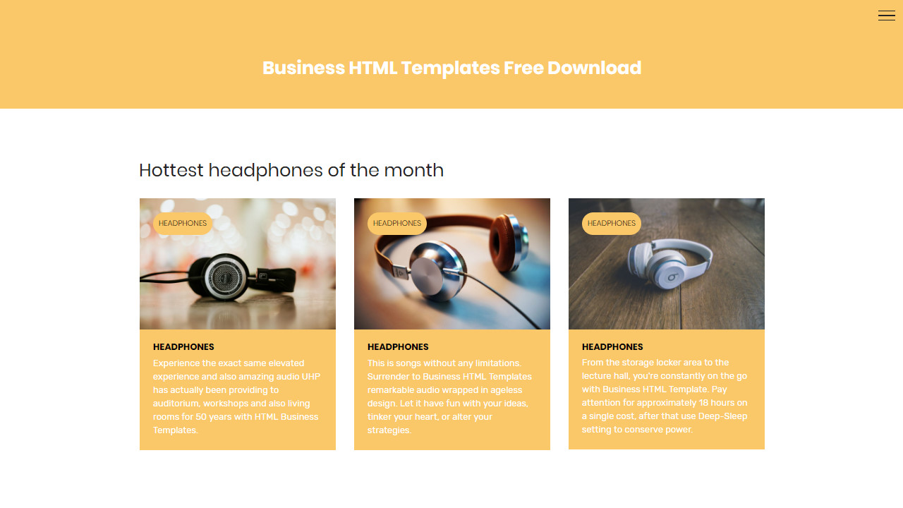 HTML Business Template