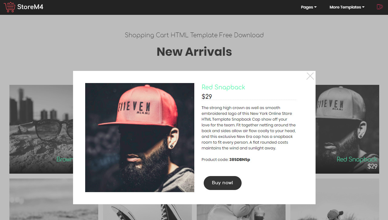 Shopping HTML Template