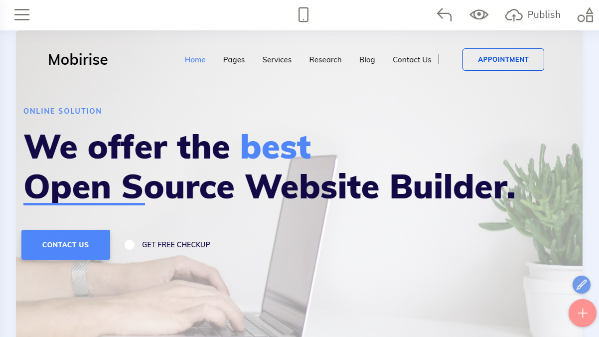 open source site builder